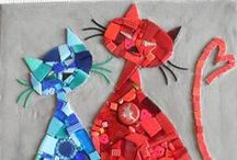 Cat Quilts / Who doesn't love cats in fabric?
