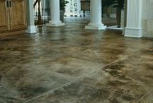 Polished Concrete Floors / Concrete floors may be colored and polished and they work for both commercial and residential design projects. For information regarding concrete blades, please see: http://www.diamondbladedealer.com/concrete-blades.html