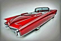 Four Wheels Art / Paintings of beautiful vintage cars