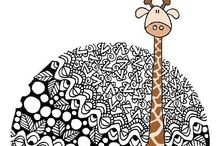 Gorgeous Giraffes / If only I could see one in the wild...