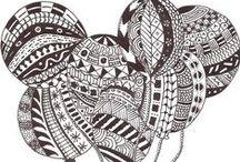 Kunst - Muster, Zentangles, Doodles