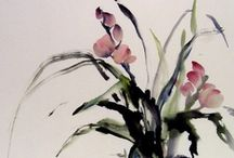 Chinese and Japanese Art / Watercolors / Ink drawings