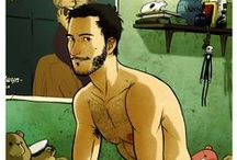 Cultura Gay - Jacopo Camagni (Dronio) / http://chilliwiki.com/br/jacopo-camagni-explora-a-sensualidade-masculina-em-ilustracoes-para-la-de-sensuais/ / by Chilliwiki