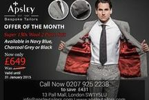 Suit Of The Month / Each month, we are proud to put the spotlight on a different one of our stunning bespoke suits.