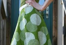 Homemade clothes / Simple patterns for making clothes - ideas for fabric combinations
