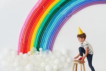 PARTY IDEAS / Kids birthday party ideas and inspiration. Birthday cake, birthday party decorating ideas for boys, girls, toddlers, tweens and teens. Simple backdrops, cool balloon displays, party hats, party games and diy garlands, balloon arches etc.