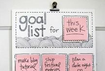 Creative To Do Lists / So many more tasks and goals are achieved with a To Do list