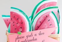 PARTY | Watermelon / Watermelon birthday party ideas and inspiration
