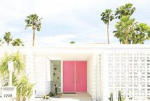 PALM SPRINGS / Palm Springs style | 1970's architecture and mid century modern home decor and outdoor living ideas