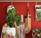 LES LÉGUMES S'INVITENT À LA CUISINE / Rangement deco et écologique pour la cuisine.