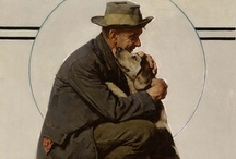 NORMAN ROCKWELL / Very famous man loved life, pictures related to different situations, / by Joann McRoy
