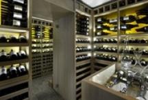 Custom Wine Cellars / Custom wien cellars - by Degré 12  http://www.degre12.com