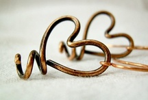 Fabulous wire wrapped copper earrings! / Some of my favorite picks for copper earrings on Etsy!