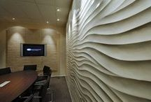 Armourcoat Sculptural / Armourcoat Sculptural® is a range of seamless sculptural wall surface designs. Sculptural® walls are constructed from a series of pre-cast panels that are bonded to the substrate. The panel joints are then filled and sanded and a final decoration is applied to the surface. Sculptural® designs are created by combining computer-aided design with traditional hand sculpting to create designs that fit together with total accuracy yet retain the essence of being hand crafted.
