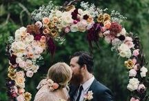 At the Altar - Wedding Inspiration / Chuppahs, Altar Ideas, Ceremony Altars, Boughs, Ceremony Arches and such.
