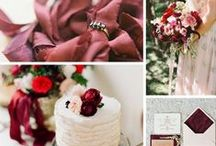 Color Of The Year 2015, Marsala Pantone - Wedding Inspiration / Color on trend for 2015!
