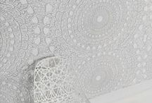 White, Bright & Lace / Designs inspired by lightness, transparency and the delicate nature of couture lace techniques, such as guipure.  Expressions of interlacing structures, and brilliant colors pairing with whites, such as pearl and silver.