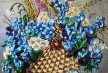 Embroidery: Ribbon / Beautiful examples, tips, and tutorials of ribbon embroidery done in silk or other ribbon fibers.  / by Shirley Forster