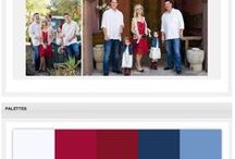 Color Palette Inspiration  / Colors that go well together and are perfect for your special occasion. We created this to help inspire you for your event! Whether it be as simple as a family session or as extravagant as a wedding, we hope these color palettes spark some ideas for you.