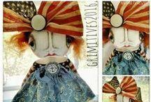 Grimitives~Kaf Grimm / 'sweet, adorable and always original art dolls, by Kaf Grimm' www.grimitives.com  www.grimitives.etsy.com