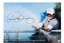 Sports Memorabilia- Golf / Autographed Pictures, Shirts, Hats and more from Upper Deck EXCLUSIVE spokesmen Tiger Woods and Rory McIlroy