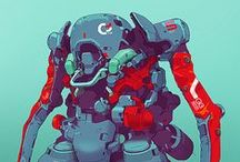Cyber, techno, robot