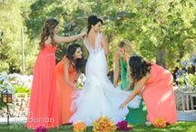 Love's Colorful Bloom / Ida and David's wedding at Saddlerock Ranch in Malibu.