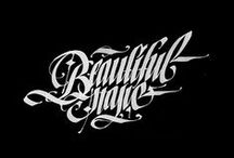 Font, calligraphy, typhography