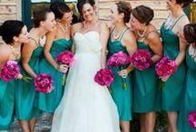 Nunta in culori: Domnisoare de onoare / Modele de rochii si combinatii de culori.