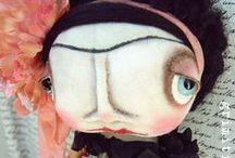 Grimitives FRIDA / My Frida dolls that I have created.