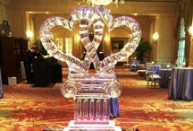 """Ice Sculptures - Wedding Themed Ice Creations / All types of ice creations that add the """"WOW"""" factor to any wedding and/or reception."""