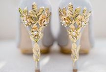 WEDDING SHOES / Show off your feet on your big day with glamorous foot candy suitable to a Sanyukta Shrestha gown
