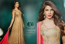 Bollywood Dresses / Bollywood is famous for its glamorous celebrities and the exclusive apparels they wear, NalluCollection.com present you the best of Bollywood fashion at your door steps.   http://www.nallucollection.com/bollywood.html