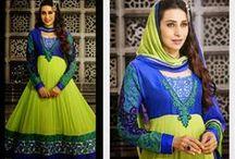 Karishma Kapoor Anarkali Suits / Karishma Kapoor Salwar Suits Online only at Nallu Collection  http://www.nallucollection.com/bollywood/karishma-kapoor