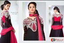Anarkali Salwar Suits / Anarkali Salwar Kameez Collection  http://www.nallucollection.com/salwar/anarkali-suits.html