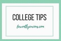 College Tips / The best college tips and tricks from aorund Pinterest to strike the perfect balance in college.  Visit ferventlycurious.com for more college tips