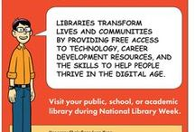 National Library Week / National Library Week is April 9-15, 2017 and the theme is 'Libraries Transform.' This board features juvenile books and resources celebrating libraries, books, and reading. Check availability via the pin description's catalog link. Having trouble locating a book? Stop in the IRC, we can help.