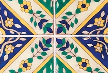 La Brea Moresque™ Ceramic Tile / La Brea Boulevard was once the center of the ceramics and tile industry that flourished in California and Los Angeles during the early part of the 1900s. Tunisian, Moorish, and Spanish patterns in orange, turquoise, ultramarine and black were favored heavily by the leading architects at the time. La Brea Moresque™ faithfully reproduces these extraordinary tiles. Made to order, these tiles can be produced in the color ways shown or customized in a variety of options.