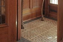 Baba Chic™ Natural Rustic Tile / An intricate frenzy of individually crafted, Mediterranean style mosaics, borders, inserts and dots. The style represents a marriage of the influences of Marrakech and Marseille. Composed of hand-cut limestone, terra cotta, marble and recovered, handpainted tile shards. No two pieces will be exactly alike. / by Country Floors