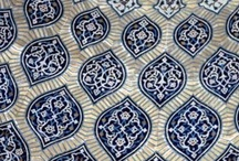 Middle Eastern Tile / Tile designs from the Middle East are not only used within ceramics and pottery, but the designs are used with clothing, accessories, furniture, and so on.
