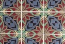 """San Simeon Collection / A collection rooted in the Spanish and Rancho Revival styleof hand-painted tiles. The San Simeon Collection is a modern take on the classic old """"California Style,"""" but with an up-to-date color way that transcends the era and genre. This colorful collection is decidedly flexible and designer friendly, with a nod to the past and a bold leap into the future. Available in sizes 8 x 8"""", 6 x 6"""", 3-7/8 x 3-7/8"""". Suitable for wet and dry environments, indoors and out."""