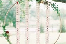 Red and burlap wedding