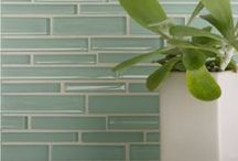 Coastal Glass Tile Collection / Coastal Glass is our new collection of interlocking glass tiles that effortlessly combine both matte and gloss finishes in creating the perfect neutral, organic setting for any kitchen or bathroom as a backsplash, countertop, shower or floor. Available in seven coastal shades and three formats. Coastal Glass is not suitable for pools or fountains where the glass tiles will be submerged under water. / by Country Floors