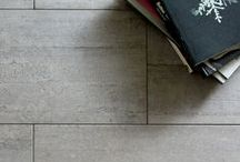 Vecchio Cemento Collection / The Vecchio Cemento Collection from Country Floors leverages the current stylistic sentiment for a cool, studio/loft edginess of design. The visual presented is one of a concrete poured floor complete with the subtle imprints and interesting textures that would be typical of that floor finish.