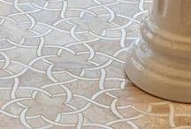 Talya Collection / The Talya Collection from Country Floors, designed by Sara Baldwin, is a beautiful, lyrical mix of water jet designs that are at home in the bath, kitchen or grand entry. The Talya Collection is a refined study of designs using marble and stone, intertwining into lacework and modern geometries. The collection is formal and casual, elegant and understated.