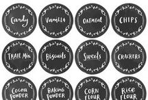DIY Printables ♥ Labels / Printables & Labels to Organize & Beautify Your Home & Life