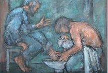 Spy Wednesday, Holy Thursday, The Last Supper and Washing of The Feet / See also a separate board -titled Fr. Laurence Freeman, for his Holy Week Retreat Videos and reflections.