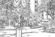 Coloring Pages: AU Campus / Join the coloring craze! Download and color Ashland University campus coloring pages created from original AU campus photos and the Colorscape app. Interested? Copies are available on the IRC coloring table, library 2nd floor.