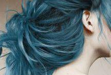 feeling blue / blue hair