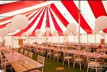 Candy-striped wedding marquee ideas / Some ideas of tent layouts, interior decor and some great DIY touches that previous clients have created to add that extra bit of wow!
